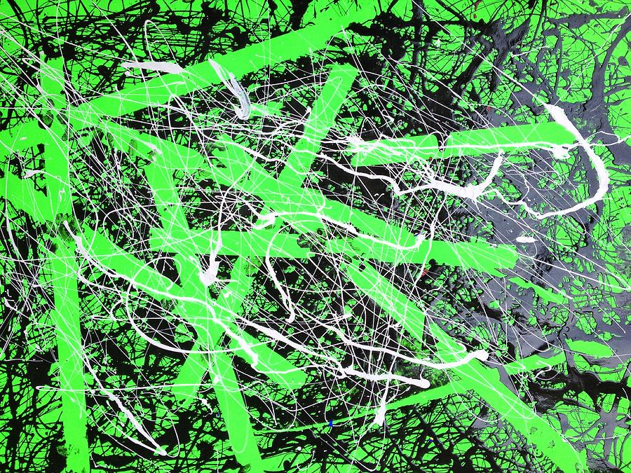 Green Mixed Media - Crackin It Wide Open by Andrew Martin