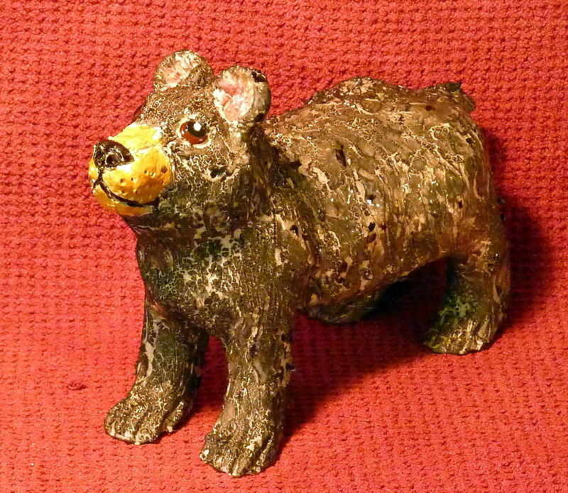 Bear Sculpture - Crackle Bear by Debbie Limoli