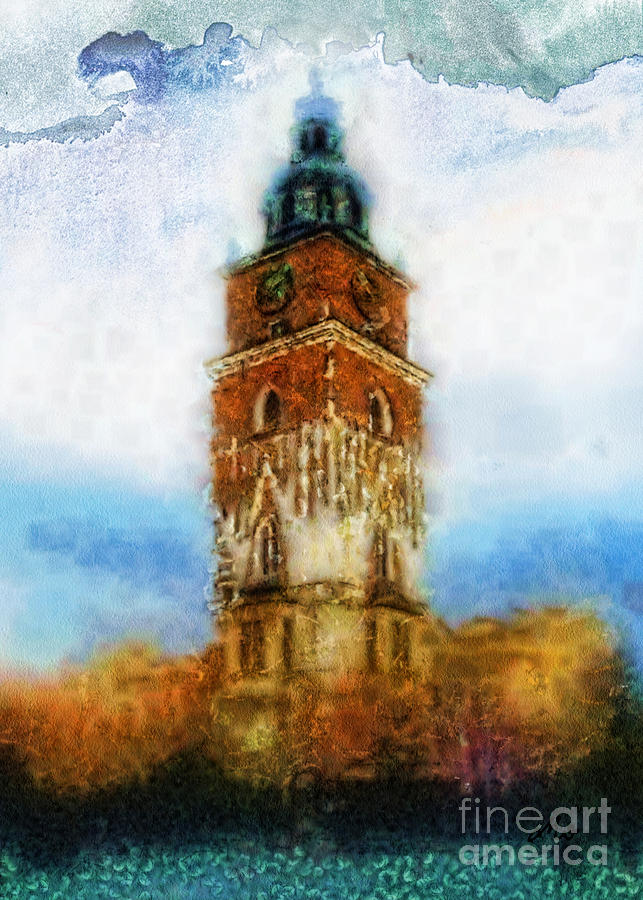 Hall Painting - Cracov City Hall by Mo T