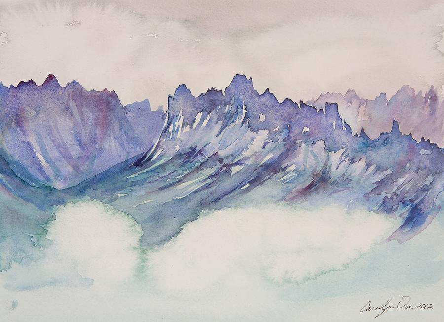 Mountains Painting - Craggy Peaks by Carolyn Doe