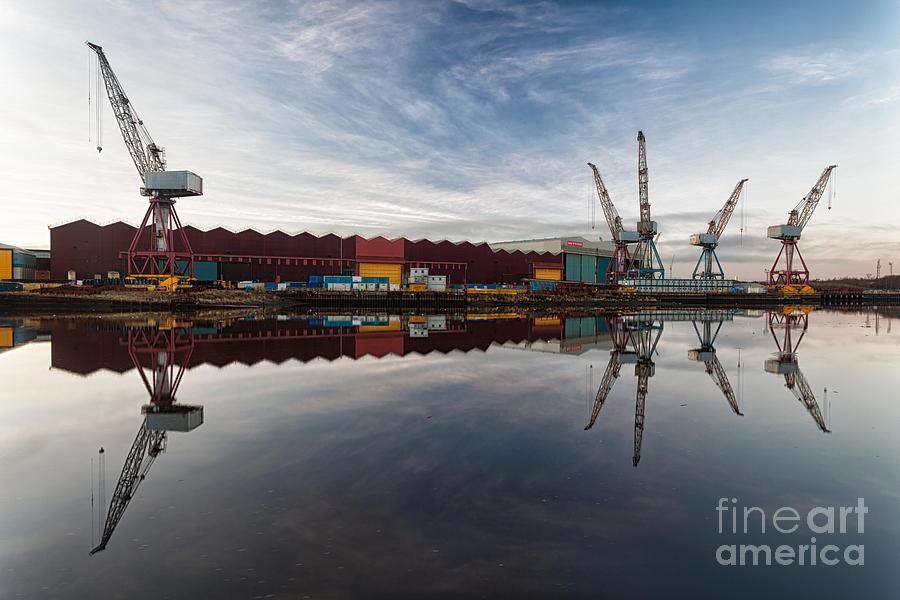 Glasgow Photograph - Cranes On The Clyde  by John Farnan