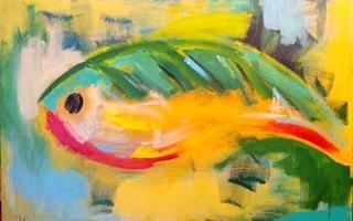 Abstract Painting - Crank Bait I by Lydia Farquhar