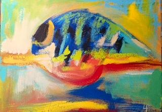 Abstract Painting - Crank Bait IIi by Lydia Farquhar