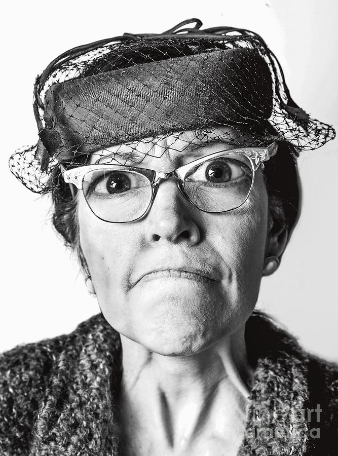 Old Lady Photograph - Cranky Old Lady by Diane Diederich