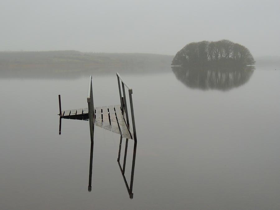 Irish Mist Photograph - Crannog at Lake Knockalough by James Truett
