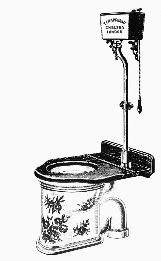 19th Century Drawing - Crapper Toilet, 1890s by Granger