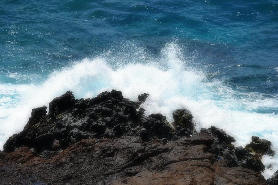 Water Photograph - Crash by Amanda Eberly-Kudamik