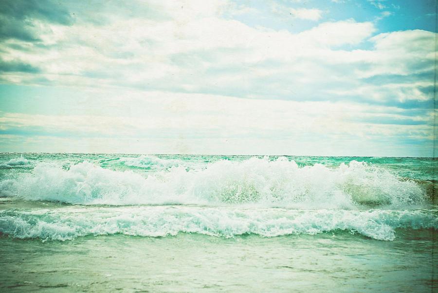 Seascape Photograph - Crash by Olivia StClaire