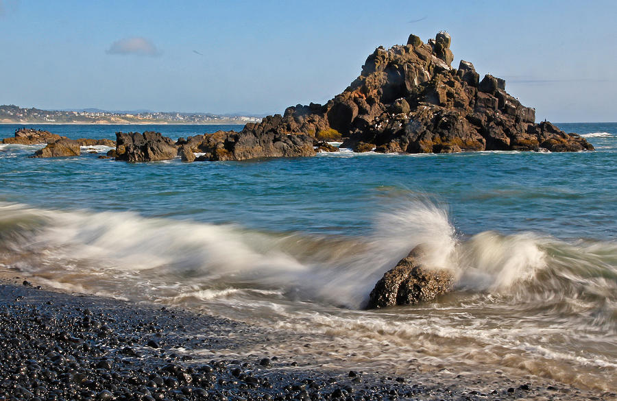 Ocean Photograph - Crashing Of The Waves by Athena Mckinzie