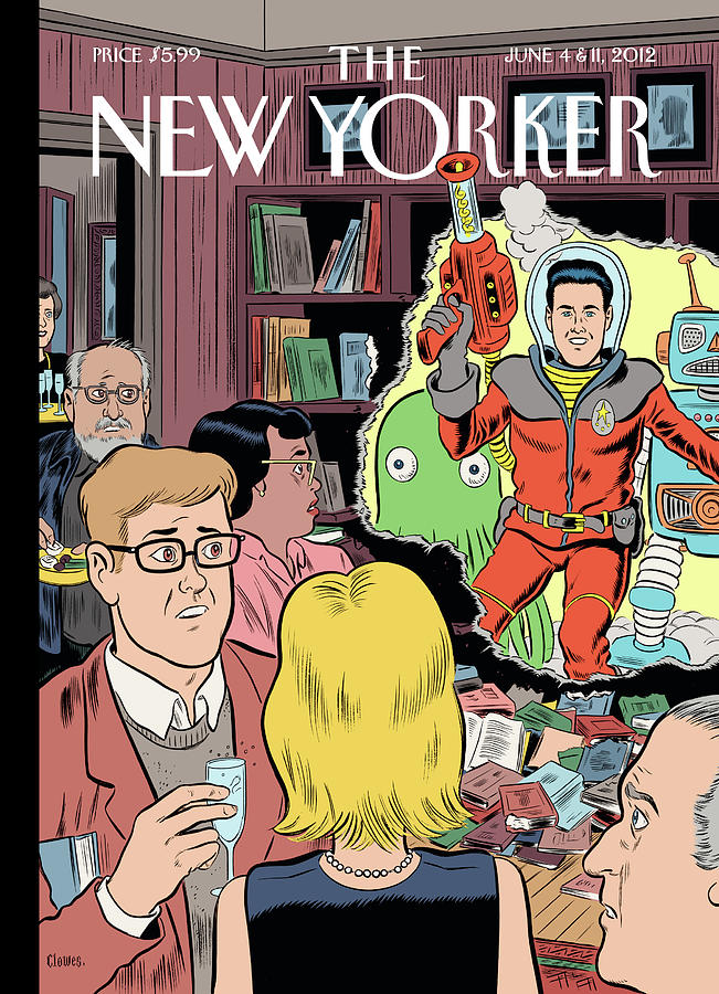 Sci-fi Painting - Crashing The Gate by Daniel Clowes