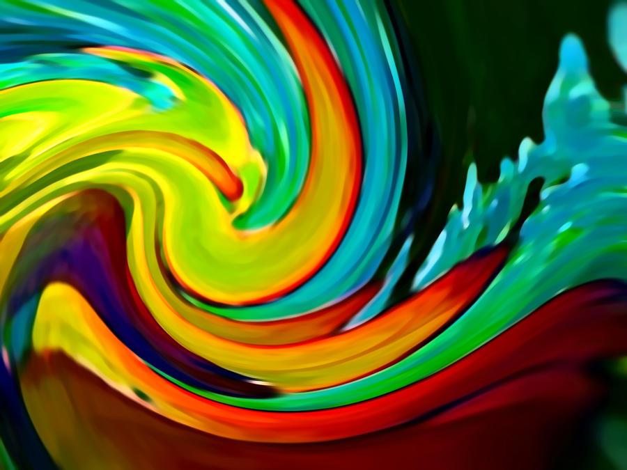 Waves Painting - Crashing Wave by Amy Vangsgard