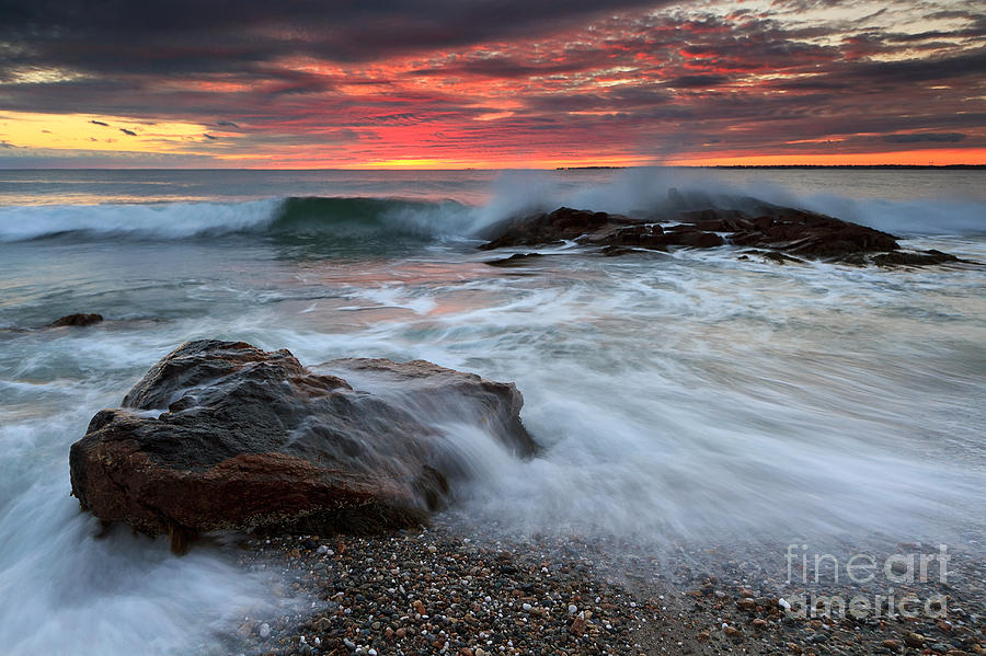 Crashing Waves Sunset Seascape Photograph By Katherine