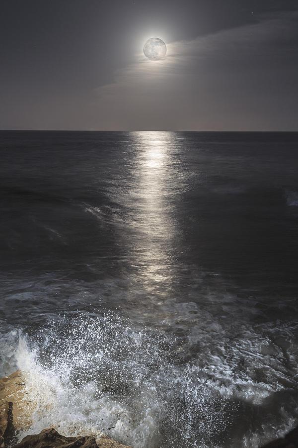 Moon Photograph - Crashing With The Moon by Bryan Toro