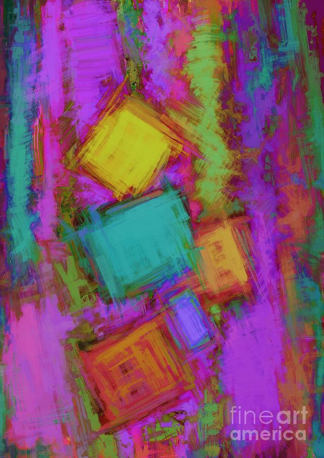 Blocks Digital Art - Crashover by Keith Mills