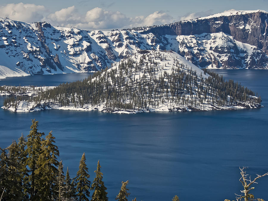 Crater Photograph - Crater Lake Oregon by Steven Lapkin