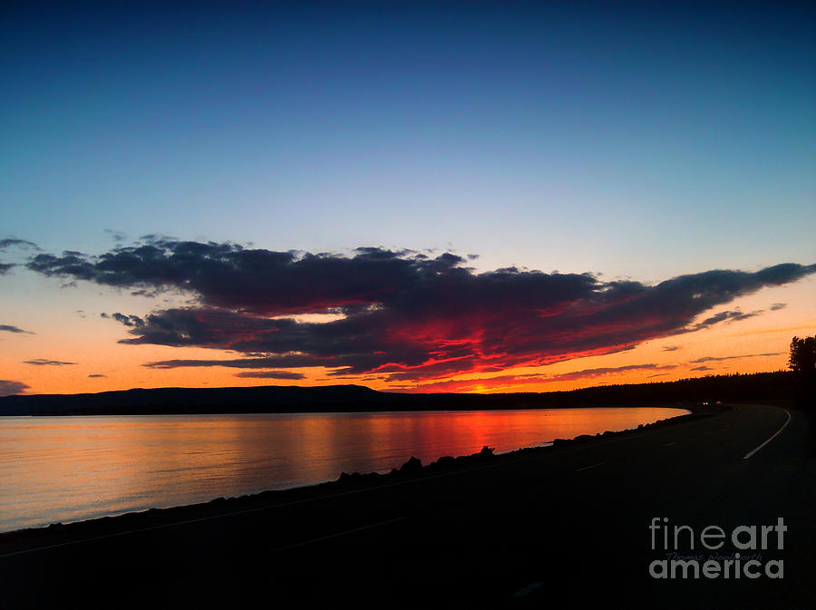 Yellowstone National Park Photograph - Crater Lake Yellowstone National Park Montana by Thomas Woolworth