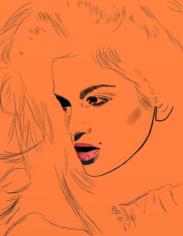 Cindy Crawford Mixed Media - Crawford Orange by GCannon
