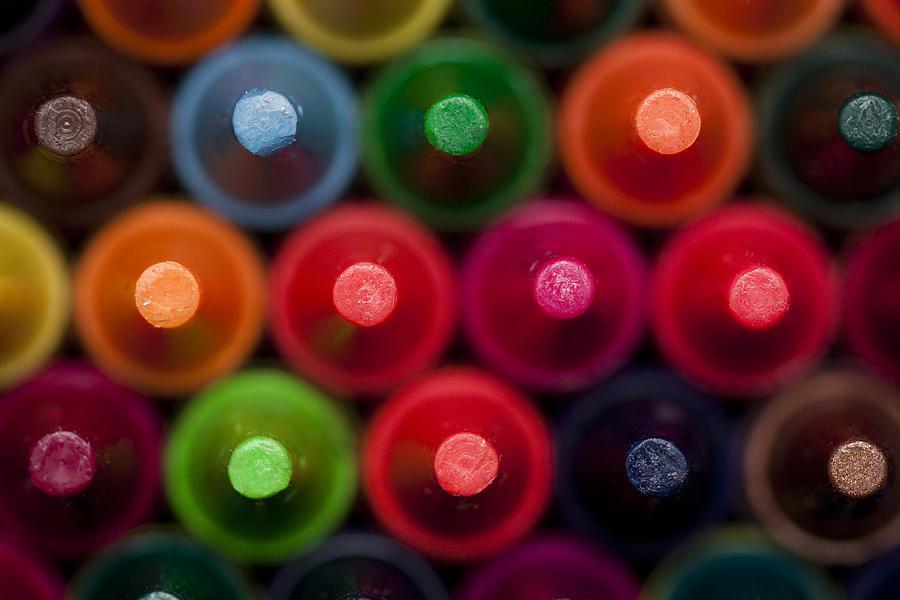 Drawing Photograph - Crayon Tips 1 A by John Brueske