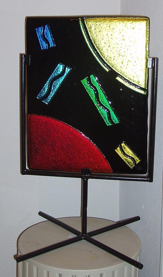 Crazy About Dichro Glass Art by Judy Schnabel