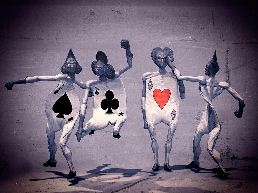 Cards Digital Art - Crazy Aces by Bob Orsillo