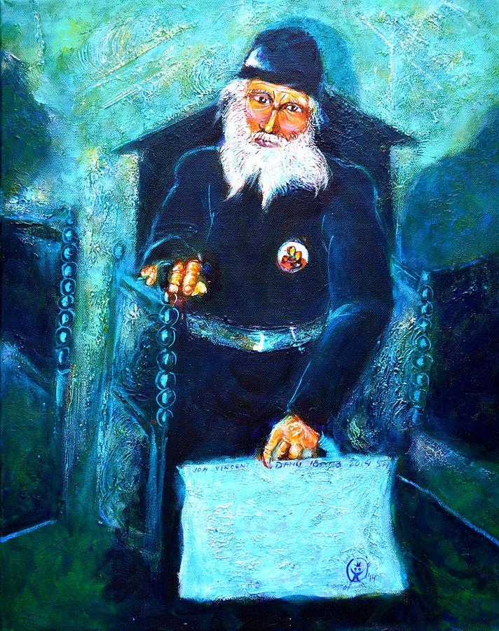 Greek Orthodox Monk Painting