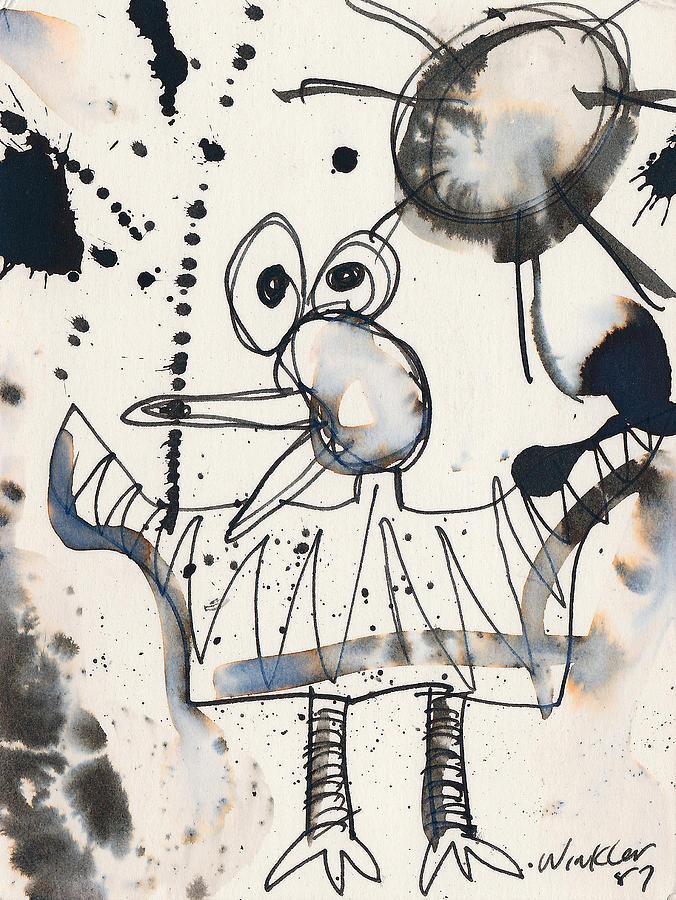 Bird Painting - Crazy Bird by Christopher Winkler