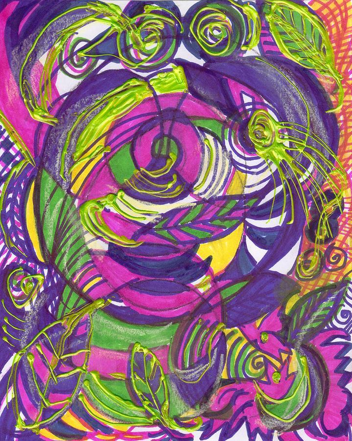 Crazy Painting - Crazy Birdies by Anne-Elizabeth Whiteway
