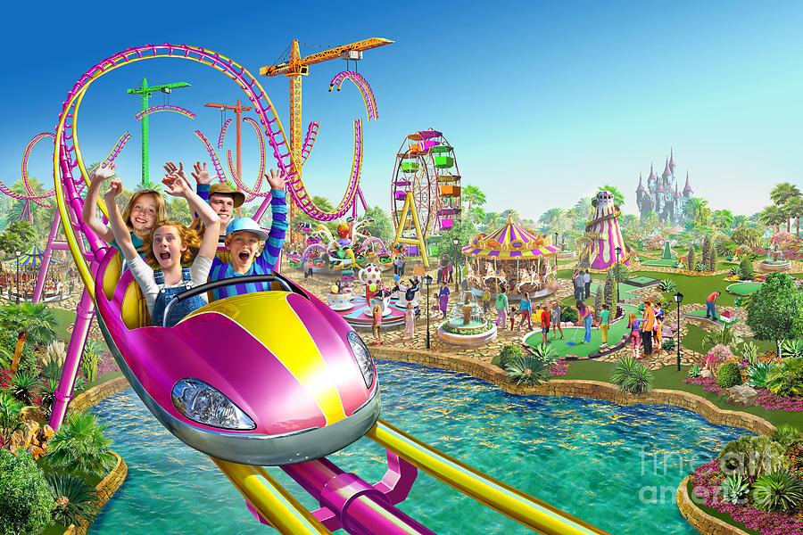 Adrian Chesterman Digital Art - Crazy Coaster by Adrian Chesterman
