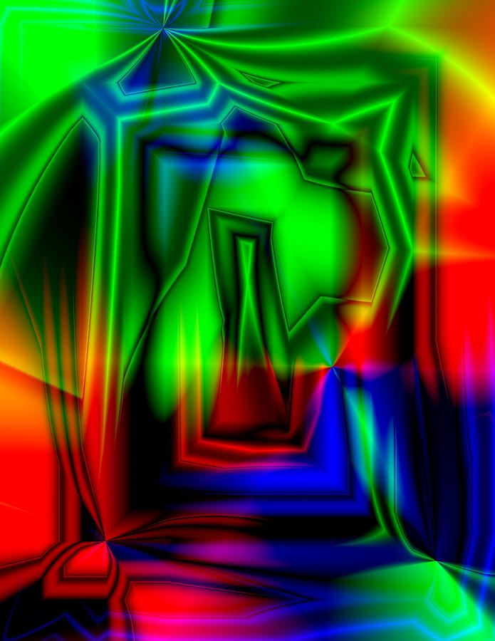 Abstract Digital Art - Crazy Colorful by Krazee Kustom