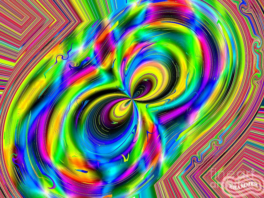 Colorful Digital Art - Crazy Eights by Bobby Hammerstone