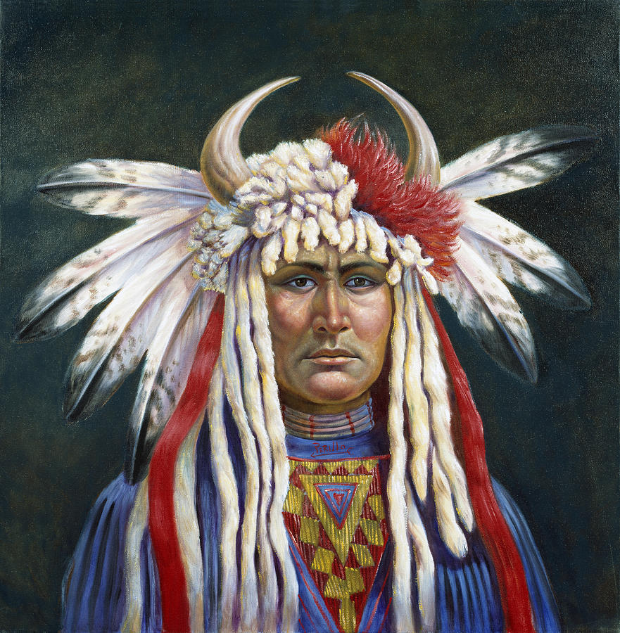 Crazy Horse Painting by Gregory Perillo