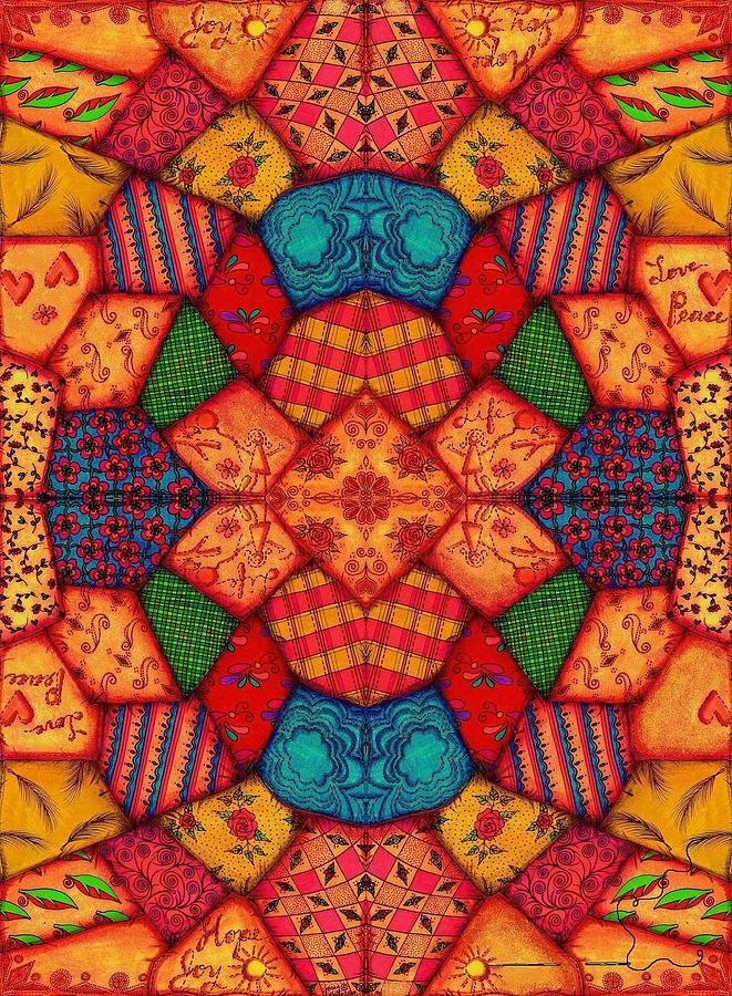 Quilt Painting - Crazy Quilt by Jenny Sorge