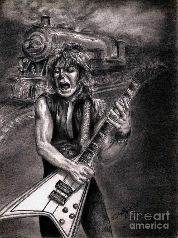 Crazy Train Drawing by Kathleen Kelly Thompson