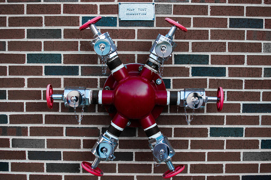 Red Photograph - Crazy Water Pump by Nathan Hillis