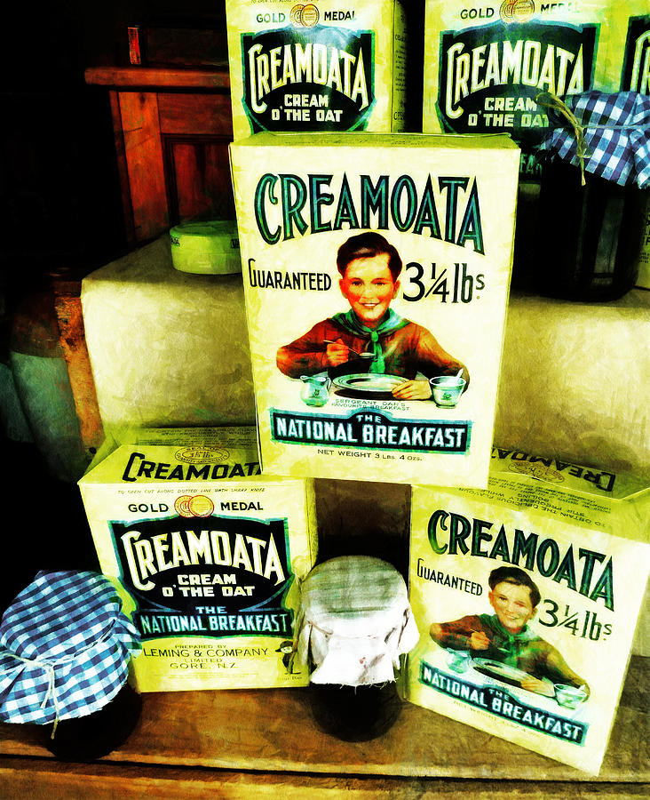 Cereal Photograph - Creamoata - Cream  O The Oat by Steve Taylor