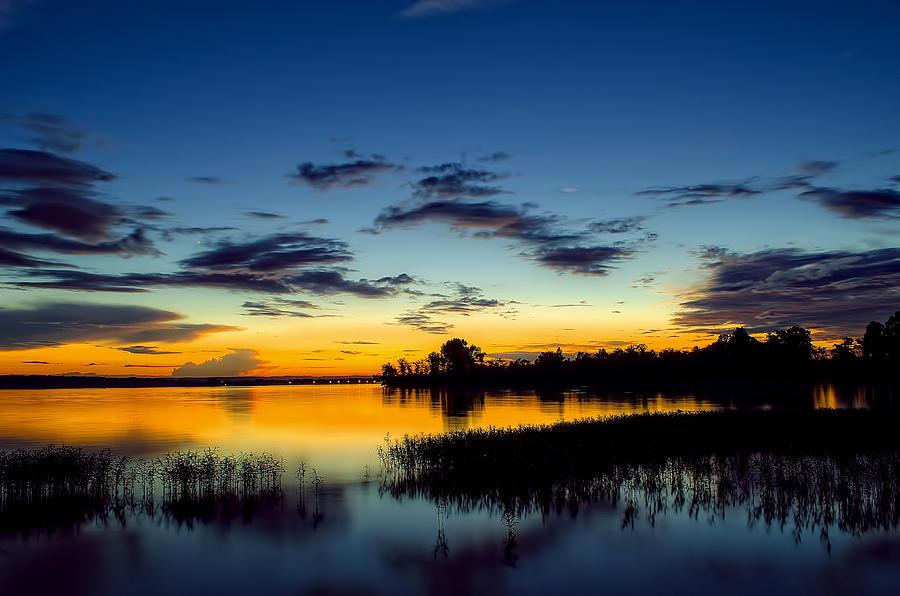 Sunset Photograph - Creamy Sunset by Dan Holland