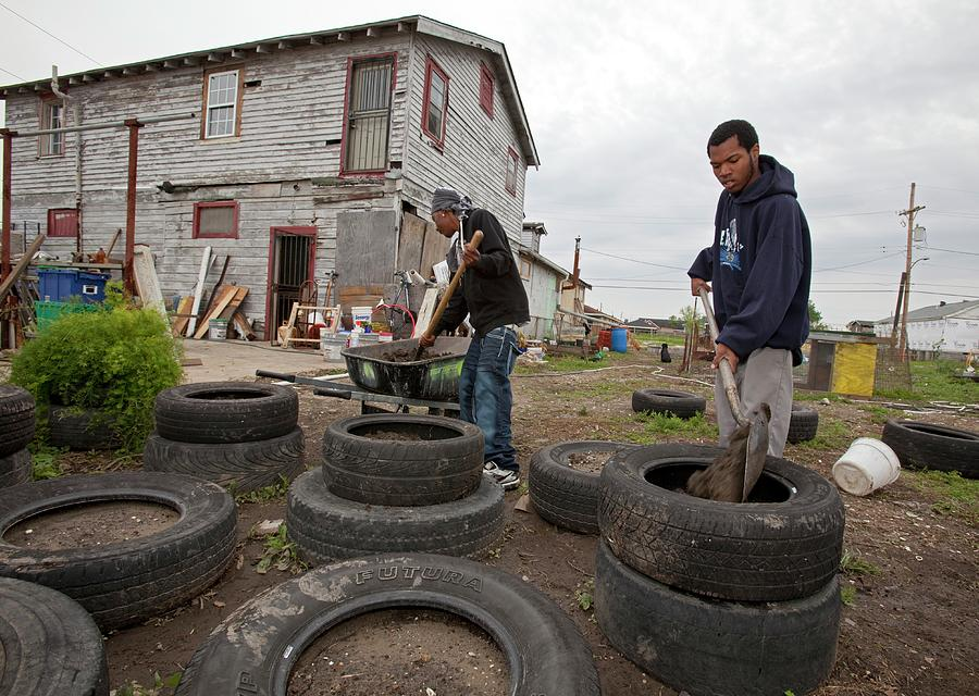 African-american Photograph - Creating Community Garden by Jim West