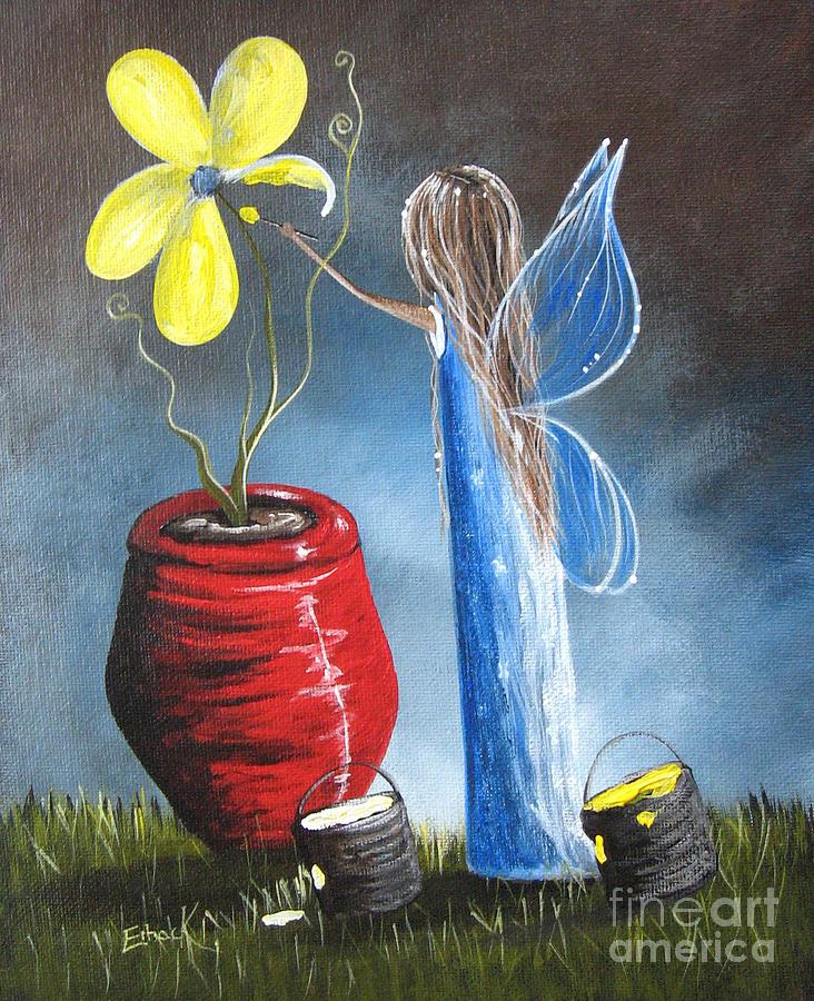 Fairies Painting - Creating Tomorrow Fairy By Shawna Erback by Shawna Erback