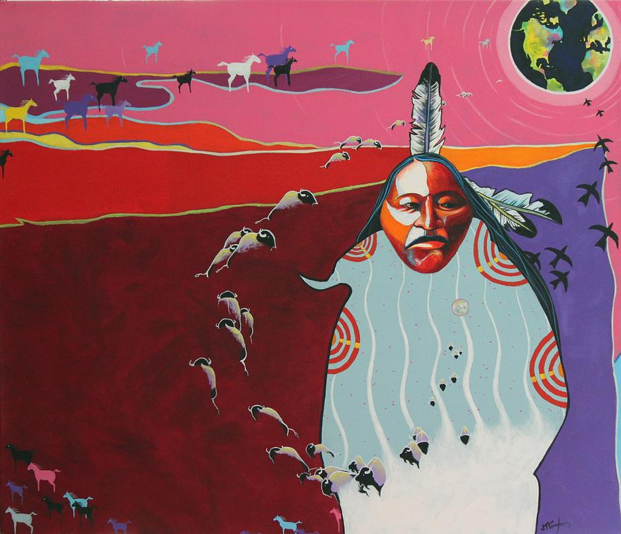 Native American Painting - Creation by Joe  Triano