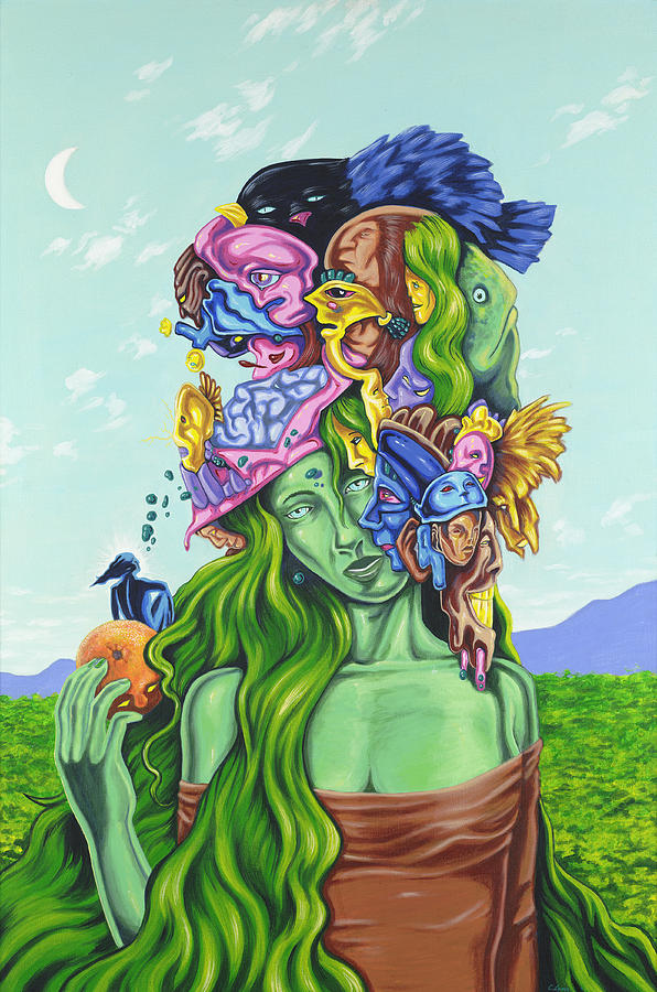 Surrealism Painting - Creation Of Eve by Charles Luna