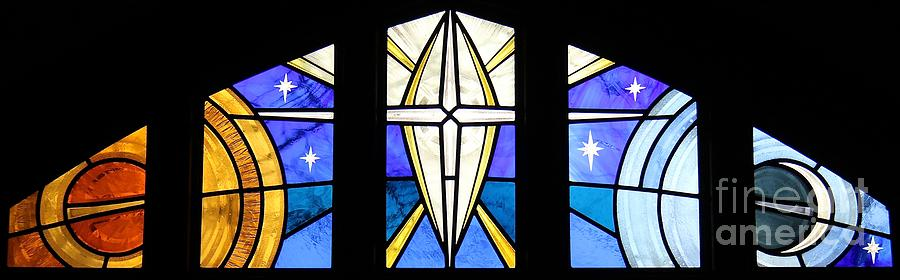 Stained Glass Glass Art - Creation Of The Stars by Gilroy Stained Glass