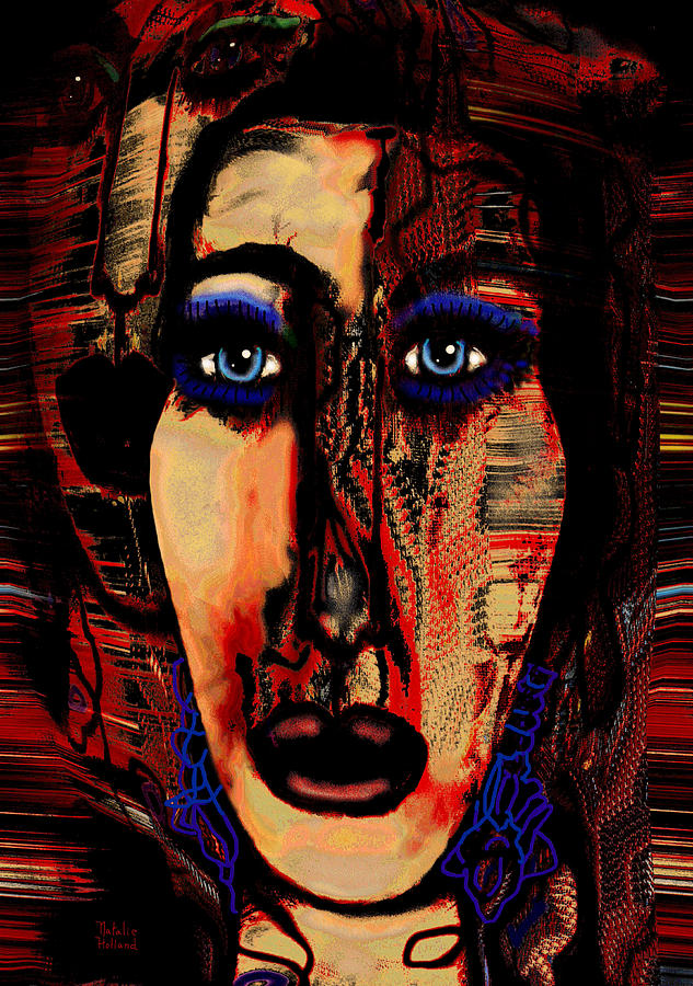 Face Mixed Media - Creative Artist by Natalie Holland