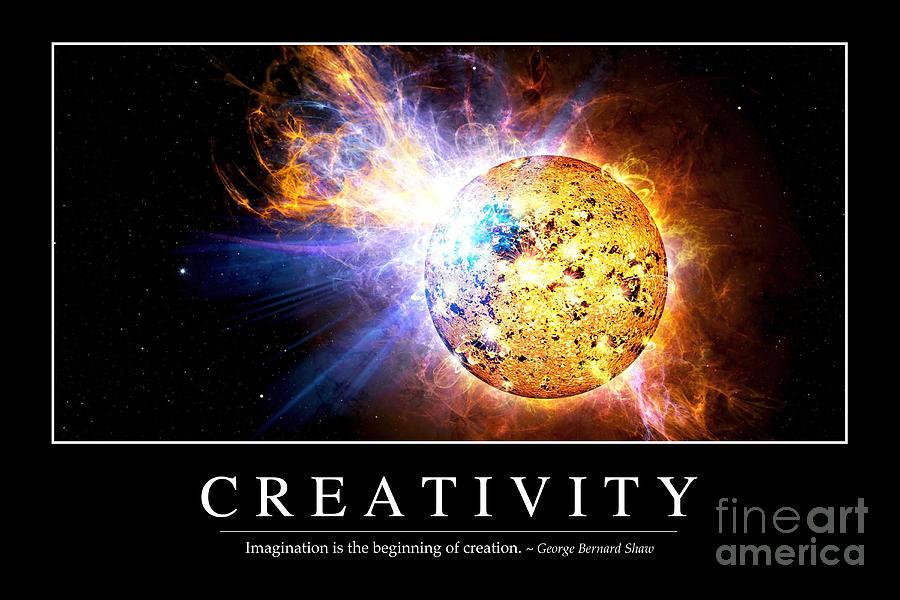 Creativity Inspirational Quote Digital Art