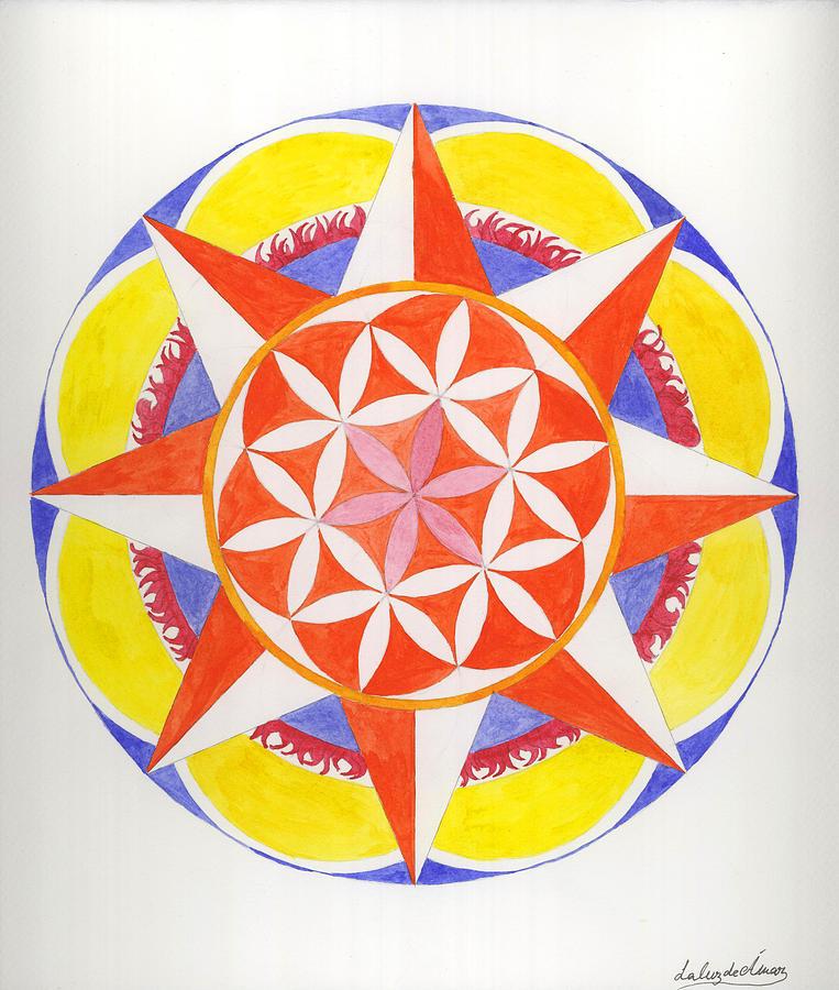 Mandala Painting - Creativity Mandala by Silvia Justo Fernandez