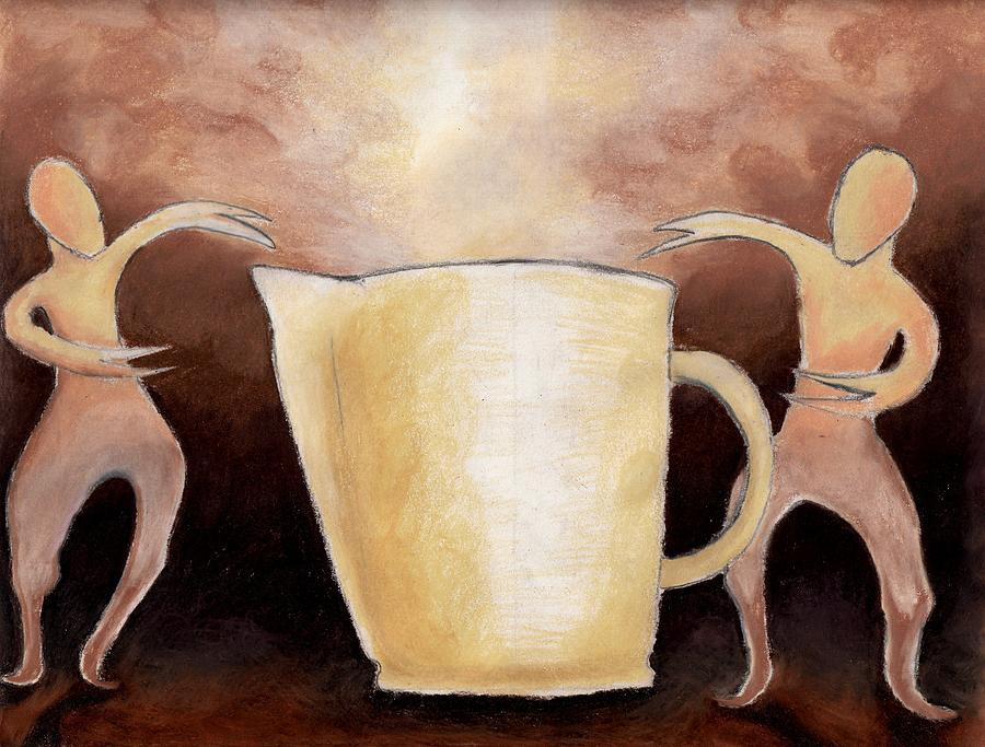 Cup Drawing - Creator Of The Coffee by Keith Gruis
