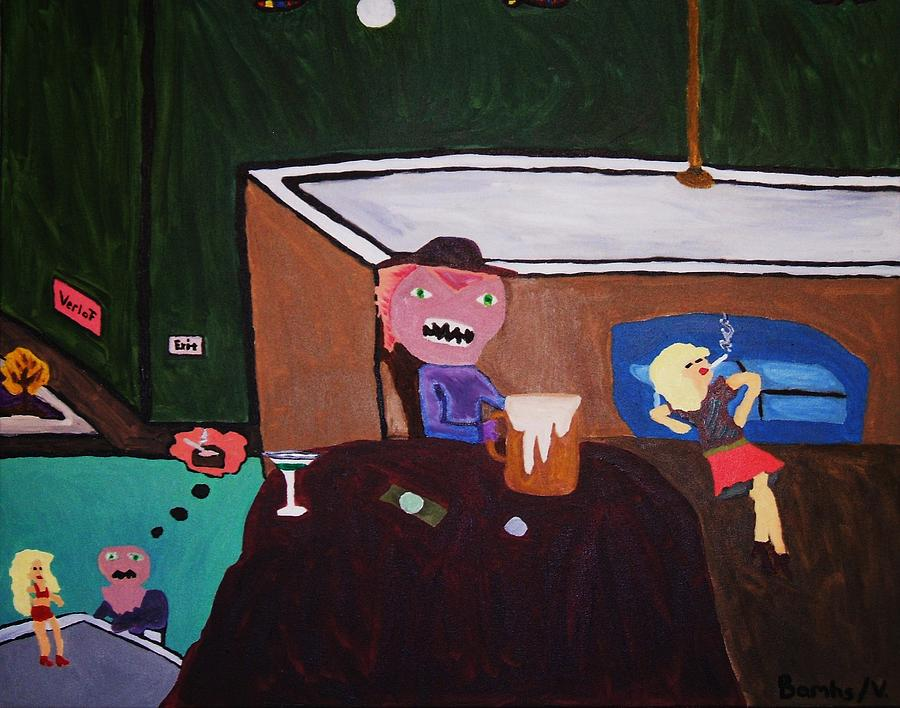 Clubs Painting - Creatures Of The Night by Bamhs Blair