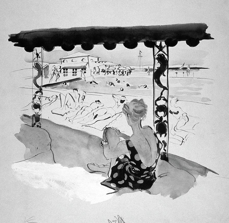 Creek Club Beach Digital Art by Rene Bouet-Willaumez