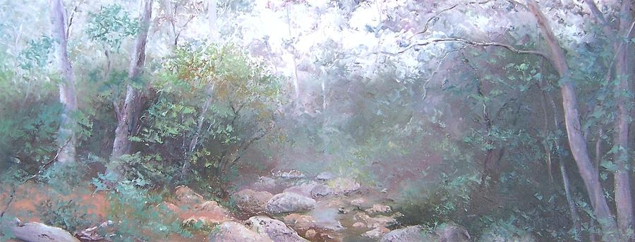 Landscape Painting - Creek In The Forest by Jan Matson