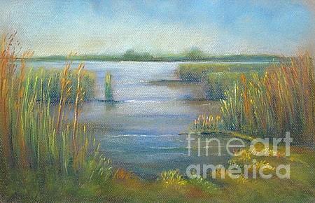 Landscape Pastel - Creek by Nicole Henderiks