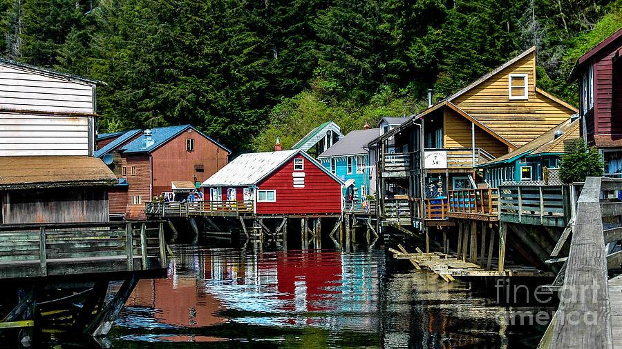 Creek Street - Ketchikan Alaska Photograph